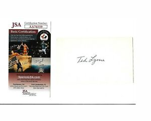Ted Lyons Autograph 3x5 White Sox 1923 D-86 Hall of Fame W/COA EX!!
