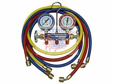 "YELLOW JACKET 41211 Manifold 2-1/2"" Gauges 60"" PLUS II™ hoses R22/134a/404A, °F"