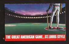 St Louis Cardinals--1989 Pocket Schedule--Budweiser