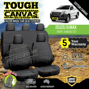 Canvas Seat Covers for Isuzu D-Max Dmax Dual Cab 06/2012 - 06/2020 Front & Rear