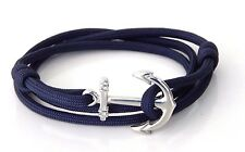 Anchor Bracelet Nautical  Paracord Men Women Adjustable Vintage  Hand Made USA