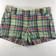 "J.Crew Factory Size 6 Summer Plaid Shorts 3"" Inseam City Fit Women's"