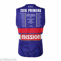 Western Bulldogs 2016 Premiers Guernsey Adults Size 3XL BLK