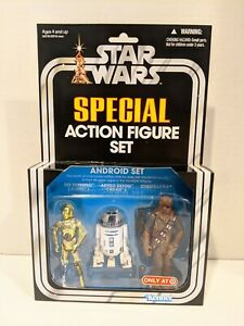 Star Wars Special Action Figure Android Set C-3PO R2-D2 CHEWBACCA 2011 Target (O