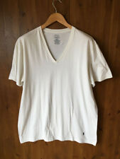POLO by RALPH LAUREN PLAIN T-SHIRT White Crew Neck 100% Pure Cotton XL - VGC