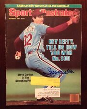 SPORTS ILLUSTRATED 7/21/80 SIGNED STEVE CARLTON SI Magazine Phillies