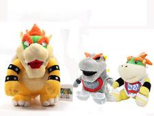 3Set of Super Mario Bros Dark Bowser & Gray Bowser Jr & Bowser Jr Plush Doll Toy