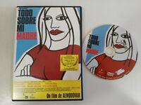 TODO SOBRE MI MADRE DVD + EXTRAS PEDRO ALMODOVAR PENELOPE CRUZ CECILIA ROTH