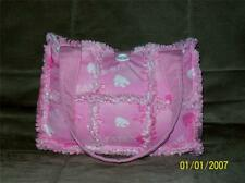 KSU Kansas State K-State Pink Rag Quilt Diaper Bag Tote Purse Hand Crafted