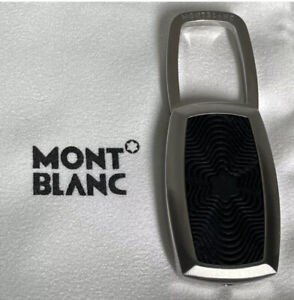 Montblanc Stainless Steel And Rubber key ring