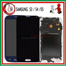 Display LCD Touch +FRAME Per Samsung Galaxy S5 9600 i9505 i9500 i9300 S4 S3 GLS