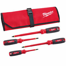 Milwaukee 48-22-2204 1,000V Multi-Tip Insulated Screwdriver Set - 4pc