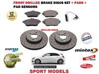 Per Mercedes A160 A180 CDI Sport 2012- > Set Dischi Freni Anteriori + Pad Kit +