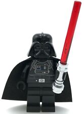 Lego New Star Wars Darth Vader Minifigure with Trans-Red Lightsaber