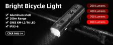 Bike Usb Light Waterproof Flashlight Led Front Bicycle Rechargeable Lamp