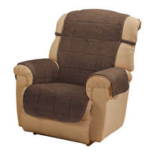 "Non-Slip Plush Sherpa Recliner Cover Brown Burgundy Camel  Blue ""MORE COLORS"""