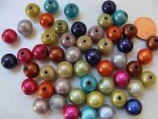 20 perles Acrylique rondes 8mm nacrées miracle BLEU CLAIR DIY création bijoux