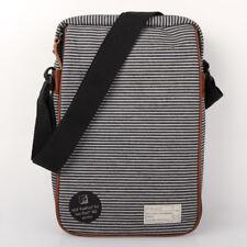 "HEX Fleet Cross Body 11"" Macbook Air Black Grey Stripe Notebook Tasche"