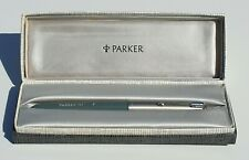 PARKER 51 UNINKED AEROMETRIC NAVY GREY CHALK MARKS LUSTALOY CAP BOX MINT