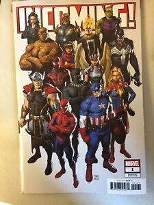 🔥INCOMING #1 NO MASK SECRET PARTY VARIANT 2019 MARVEL COMICS Spider-Man THOR