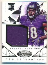 BRESHAD PERRIMAN 2015 PANINI CERTIFIED RC ROOKIE RELIC JERSEY SP #761/799 F1