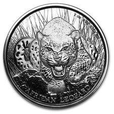 1 oz African Leopard 2017 Cedis Ghana 999 Silber Silbermünze Auflage 50.000