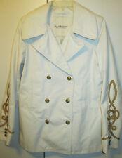 $225 Denim & Supply Ralph Lauren Ivory Off White Military Navy Peacoat Jacket L