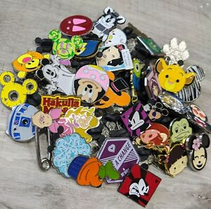 Disney Pin Trading Random Bundle Lot Of 10 Pins No Duplicates