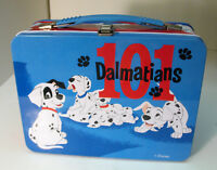 Disney 101 Dalmatians Metal Lunch Box Blue Red Tin