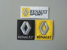 RENAULT KIT 3 PATCH RICAMATA TOPPE TERMOADESIVE