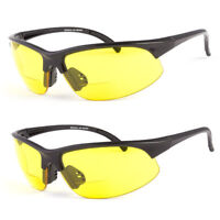 NEW BIFOCAL WRAP SAFETY READING SUN GLASSES NIGHT DRIVING SUNGLASSES  ANTI GLARE