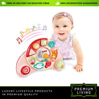 Musical Educational Piano Developmental Musical Toys for Baby table or Cot Pink