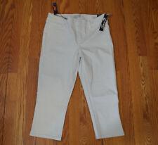 NWT Womens SEVEN 7 White Denim Skinny 4-Way Stretch Denim Capris Sz 6