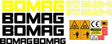 BOMAG BW80AD-2 VIBRATING ROLLER DECALS STICKERS
