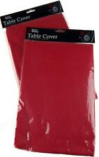 Set Of 2 Red Flannel Back Christmas Table Covers - 132 x 174cm