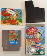 THE SIMPSONS BART vs SPACE MUTANTS Nintendo Game Box Instructions Book vintage