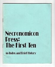 NECRONOMICON PRESS: THE FIRST TEN (S. T. Joshi & Marc A. Michaud/1st US/PBO)