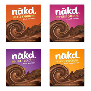 NAKD Drizzled Chocolate Peanut Double Toffee Raspberry - Vegan Gluten Free Bars