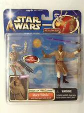 STAR WARS EPISODE II ATTACK OF THE CLONES MACE WINDU w BATTLE DROID DLX FIGURE 1