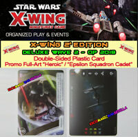 "STAR WARS X-WING 2.0 - DELUXE WAVE 2 - Plastic card ""Heroic"" / Epsilon Sq. Cadet"
