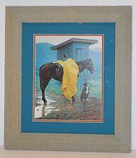 """Rainy Days & Mondays"" Western Art Print by Thomas Lorimer 15x17 Frame (MS180)"