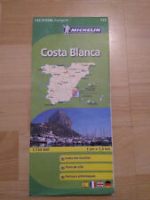 Carte Michelin N° 123 Costa Bianca  - Dernière édition - NEUF - Espagne