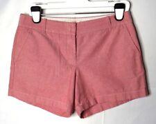 J. Crew Light Red 100% Cotton Chino Broken-In Oxford Shorts 8