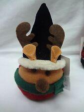 Plush REINDEER Christmas Ornament*Bean Bag*Present Decoration*MOOSE*Free Ship*