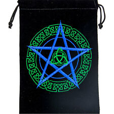 - Pentacle #2 Embroidered Velveteen Bag Tarot Runes Gems Wiccan Pagan Supply