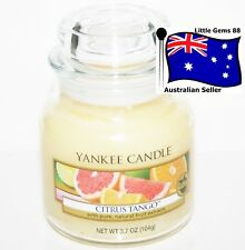 YANKEE CANDLE * Citrus Tango * SMALL GLASS JAR * 3.7OZ * SCENTED CANDLE