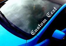 Texto personalizado (02) cualquier texto cualquier color Etiqueta Engomada Del Parabrisas Drift Car Etiqueta de vinilo
