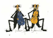 Postkarte: Michael Ferner - Celloduett in Gelb-Blau