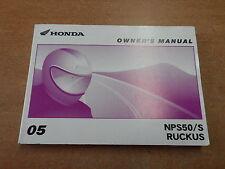 OEM Honda Owener's Manual 2005 NRS50/S Ruckus 00X31-GEZ-6200