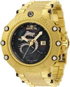 Invicta Subaqua Noma VII Gold Black Mother of Pearl Dragon Automatic Watch 34354